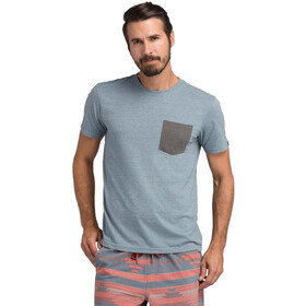 Prana Pocket Camiseta Hombre, blue note heather